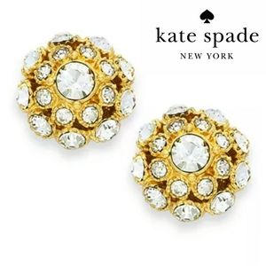 🎁 KATE SPADE NY 12k Gold Crystal Ball Earrings